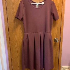 Lularoe purple midi dress with short sleeves
